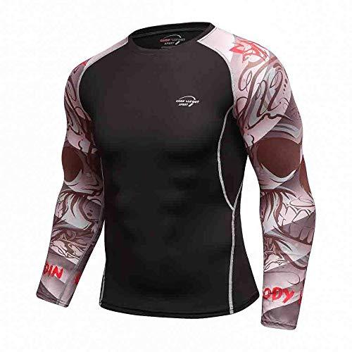 Herren Pullover Schwarz Fitness Lange Ärmel Kompressionsshirt Atmungsaktiv Funktionsshirt Männer Sportshirt Base Layer…