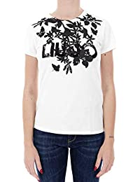 Amazon.it  liu jo - Canotte e top   T-shirt 23be286ec3a
