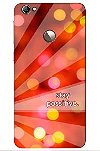 TEMPER Stay Possitive 3D Back Cover for LeEco Le 1s
