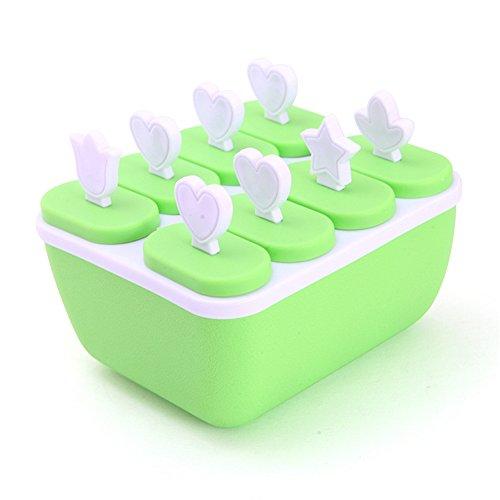 yiliay Home Essential Eis Form ICE POP MAKER mit wiederverwendbaren Stäbchen grün