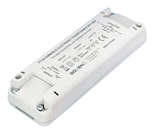 0W - 150W Dimmable Electronic Transformer YT150 - low voltage halogen (MR16, MR11, G4) and 12Vac LED lights; Elektronisch Dimmbar Transformator, Trafo -