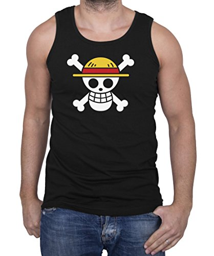 Ruffy Straw Hat Logo Men's Tank Top Ruffy One Monkey Anime Piece Zoro