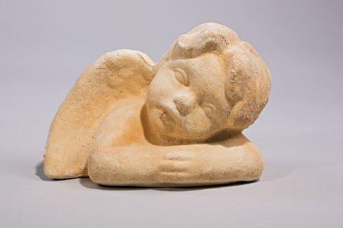 """Engel """"Leatitia"""" - Handarbeit in Sandsteinoptik - 21 x 15,5 x 15 cm"""