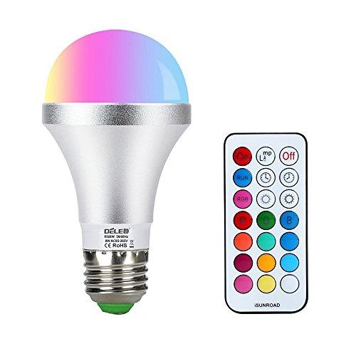 LED RGBW Glühbirne, dimmbar, mit Fernbedienung