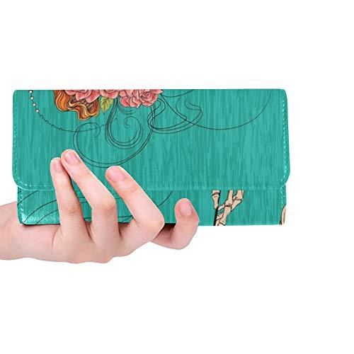 Culzean Castle (Einzigartige benutzerdefinierte Culzean Castle Sonnenlicht Frauen Trifold Wallet Lange Geldbörse Kreditkarteninhaber Fall Handtasche)