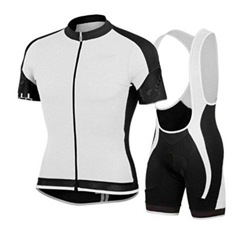 QXF Outdoor-Sommer Kurzarm-Radsportbekleidung Radtrikot Kurzarm-Hosenanzug, M