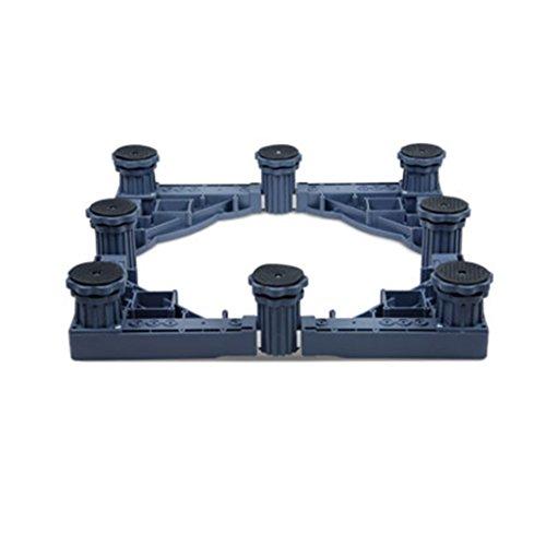 Qiangzi Einstellbare Basisständer Einstellbare Heavy-Duty-Gerät Roller Base Tumble Trockner Kocher Gefriergeräte 8 Fuß 1000 Kg Last Für Badezimmer Küche (Wagen Roller Küche)