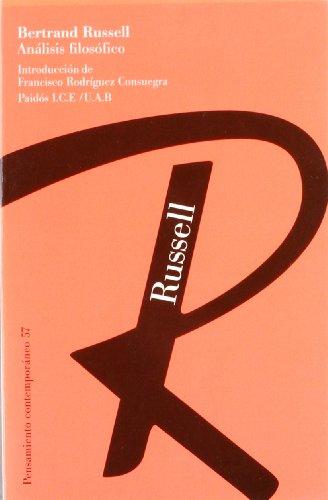 Análisis filosófico (Pensamiento Contemporáneo) por Bertrand Russell