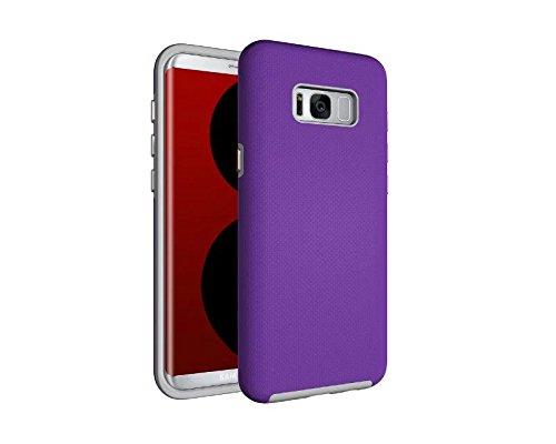 YHUISEN Galaxy S8 Plus Case, 2 In 1 TPU und PC Ultra Slim Anti-Rutsch Anti-Shock Rüstung Scratch Resistant Schutzhülle für Samsung Galaxy S8 Plus ( Color : Rose ) Purple