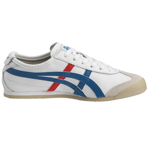 Onitsuka tiger mEXICO 66 hL202 0146 adultes-chaussures unisexe Blanc - Weiß (White/Blue/Red)