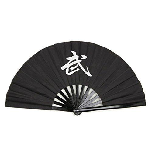 34,8cm Tai Chi Fan Kung Fu Artes Marciales Bamboo portátil plegable ventilador-Caracteres...
