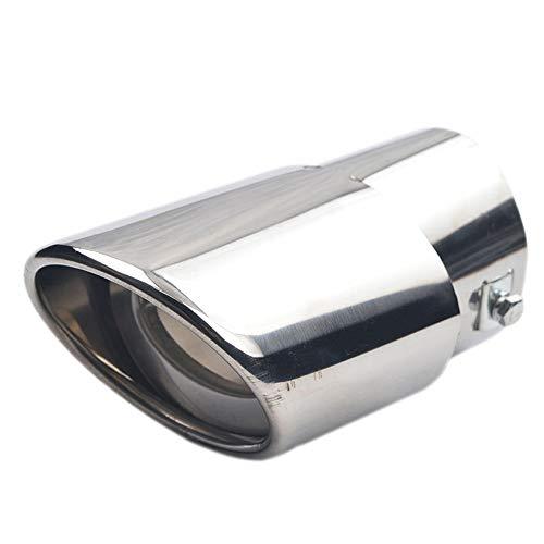 Goodplan Premium Qualität Universal Drop Down Auto Auspuff Endrohr Schalldämpfer Schalldämpfer Spitze Silber