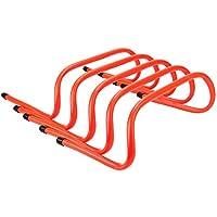 REEHUT Set da 5 Ostacoli per Allenamento - Agilità, Pilometria e Ostacoli di velocità Sport Multiuso con Maniglie di Trasporto - Arancione
