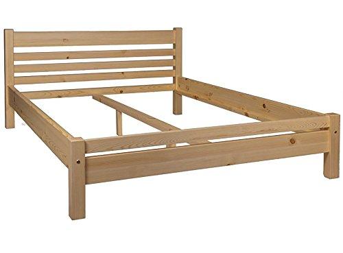 BG Bett Holzbett Doppelbett Tanja 160 x 200 Kiefer Massiv Honig-Eiche Lackiert -