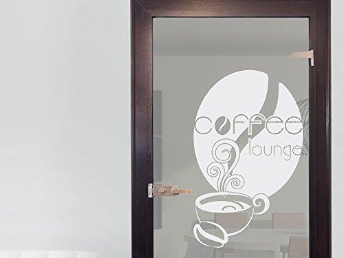 GRAZDesign 980237_40 Fenstertattoo Spruch Coffee Lounge mit Tasse   selbstklebende Fensterfolie...