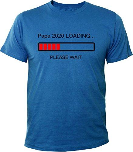 Mister Merchandise Herren Men T-Shirt Papa 2020 Loading Tee Shirt bedruckt Royal