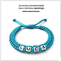 Braccialetto personalizzabile LUCA con nome, nome, messaggio per adulto, bambino, neonato