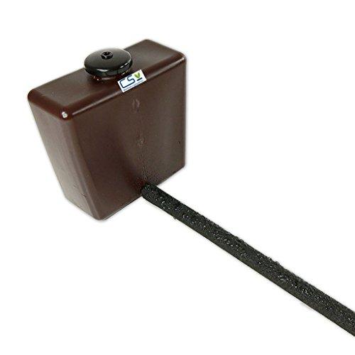 1 m CS Perlschlauch drucklos mit Vorratsbehälter und Endstopfen