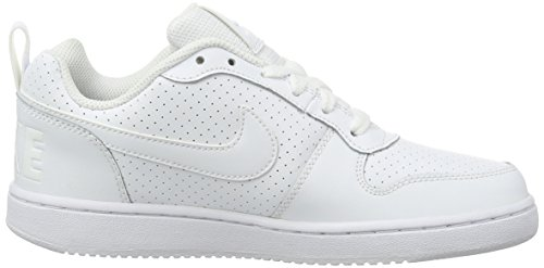 Nike Wmns Court Borough Low, Scarpe da Basket Donna Bianco
