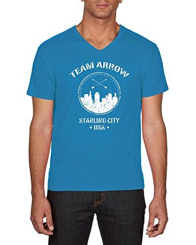 Touchlines Team Arrow, T-Shirt Uomo Blu (Azur 49)