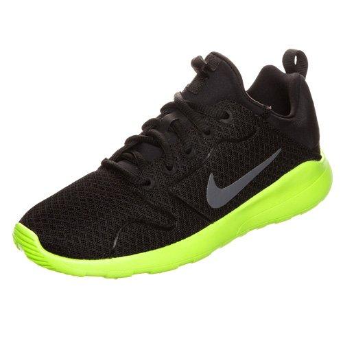 Nike Kaishi 2.0 Grade School, Chaussures de Running Compétition Mixte Enfant Noir (Schwarz / Volt)