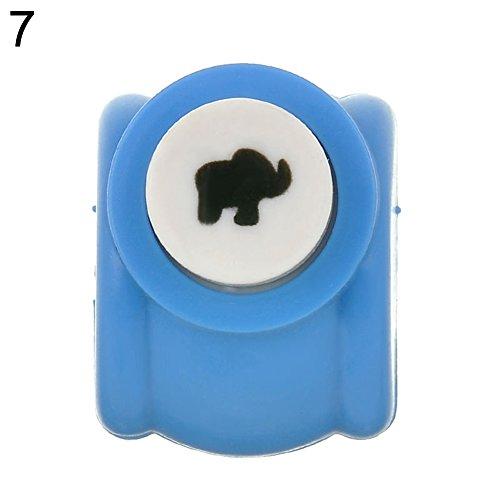 Zhouba Mini-Papierstanzer, für Scrapbooking, handgemachter Locher, elefant, Einheitsgröße (Punch-scrapbooking Scrapbooking-seiten)