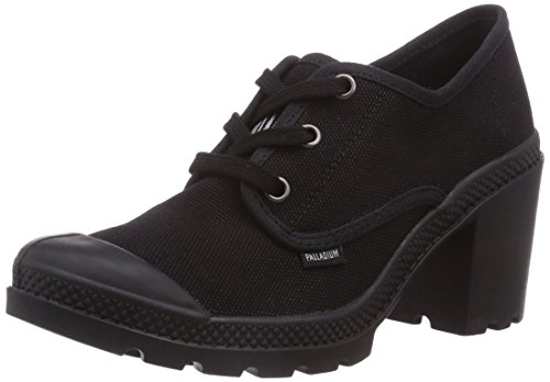 Palladium Pampa Oxford Heel, Baskets Basses femme Noir - Schwarz (BLACK/HI-RISE 062)
