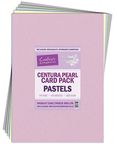 Unbekannt Crafter's Companion - 40 Blatt Fotokarton A4 aus der Reihe Centura Pearl, Pastellfarben/Mehrfarbig -