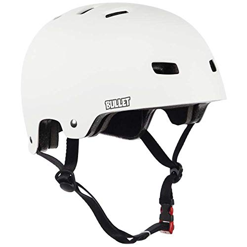 Bullet bulhe005--Helm, Unisex - Erwachsene, Deluxe T35, Weiß (matt weiß) -