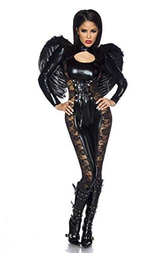 Black-Angel-Halloween-Kostüm - schwarz (Engel-kostüme Halloween Für)