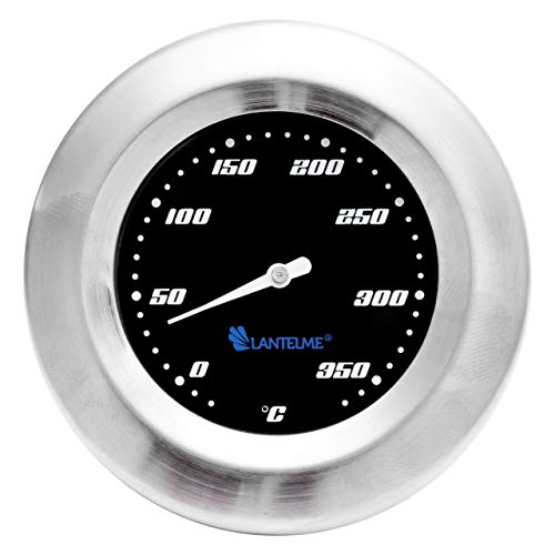 Lantelme Edelstahl Grill Thermometer 370 °C Analog Smoker Räucherofen Grillwagen Analog BBQ Grillzubehör 6012