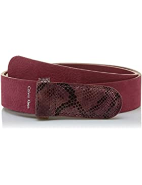Calvin Klein Damen Gürtel Exotic Leather Buckle Belt