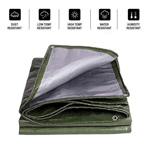LSXIAO-Lonas Impermeables Exterior Cochera Protector Solar Resiste El Viento Y La Lluvia. Ojal De Metal con Cuerda Libre Tienda De Campaña Al Aire Libre, 23 Tamaños (Color : Green, Size : 2X1.5m)