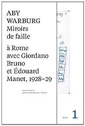 Miroirs de faille : A Rome avec Giordano Bruno et Edouard Manet, 1928-29