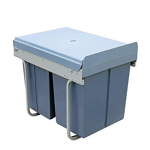 GHFDSJHSD Küche Recycling Abfall-Box Ausziehen Soft Closed Trash Recycling-Bin Grunge Grau, 300 cabinets, Double Barrels, 20 liters, 10 liters