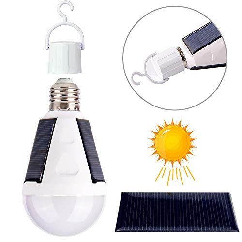 MEIQIQ Solarleuchten Tragbare Laterne Solar LED Lampe E27 110 V 220 V wiederaufladbare Sensor Ladung Outdoor Nacht Notfall Camping Zelt Solar Lampe wasserdicht und langlebig Außenleuchten (Notfall-zelte Für Camping)