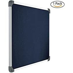 Pragati Systems Genius Notice Board (Pin Up Board) for Home, Office and School, Lightweight Aluminium Frame, 2x3 Feet, Blue (Pack of 1)