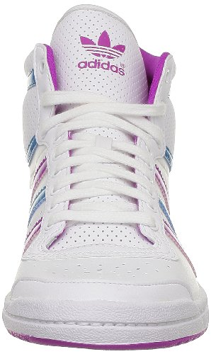 adidas Originals Top Ten Hi Sleek W, Baskets mode femme Blanc (White Ftw/Vivid Pink S13)