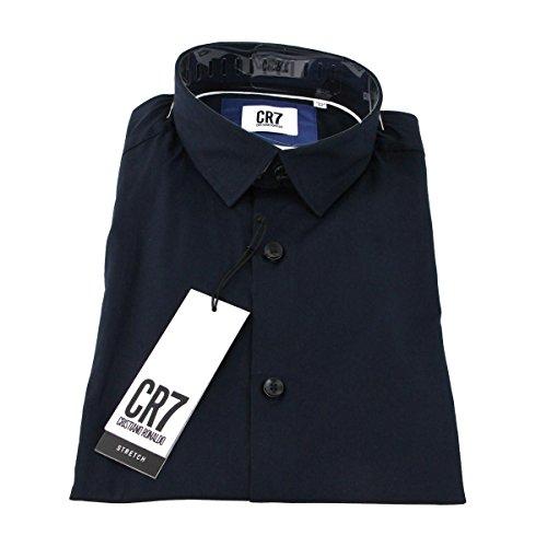 CR7 cRISTIANO rONALDO cR7 shirt chemise pour homme coupe slim Bleu - bleu marine