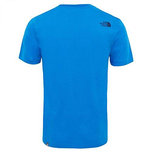 The North Face Herren M S/S Easy Tee Ur Navy/Tnf Wh T-Shirt, Blau Bomber Blue