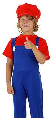 Kostüm Anzug Chemische - Folat Kinderkostüm Klempner rot