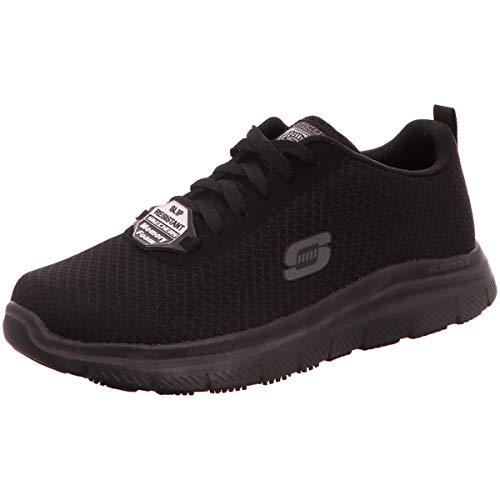 Skechers Herren Flex Advantage- Bendon Sneaker, Schwarz (Black Mesh/Water & Stain Repellent Treatment Blk), 42 EU
