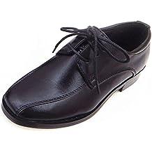 Zapatos para niños Zapatos festivos Zapatos comunión Zapatos confirmación Negro T.18-39 - Negro, 23