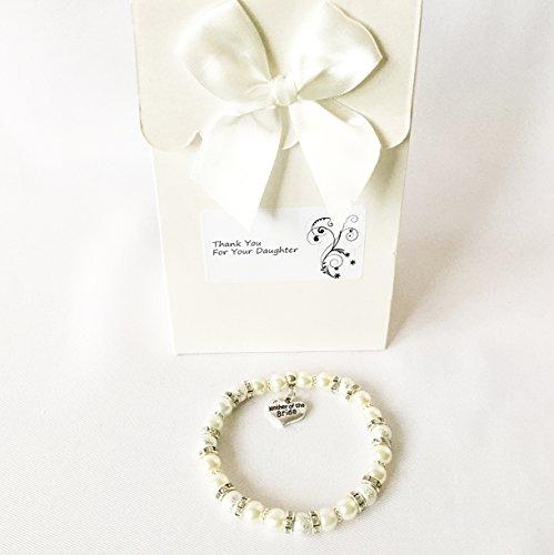 Exquisites Brautmutter Charm-Armband Geschenk, elfenbeinfarbenen Armband mit Strass, Hochzeitsschmuck, Schmuck (Mutter Der Bräutigam-outfit)