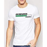 T-Shirt blanc homme humoristique Je réfléchis, Patienter.