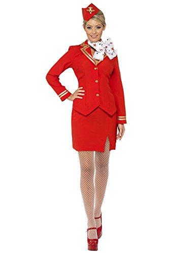 Rot Stewardess Trolley Dolly Costume (struts - 6852, Damen: (Dolly Kostüm Trolley)