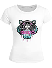 Pop KENZO For 2016 Womens Printed Short Sleeve tops t shirts