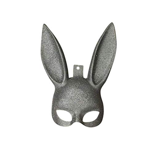 Upstudio Persönlichkeit Urlaub Kaninchen Maske Masquerade Bunny Rabbit Maske Ostern Party Halloween Kostüm Cosplay Zubehör (Black Glitter) Party bevorzugt ()