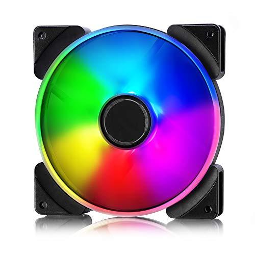 Fractal Design Prisma AL-14 Lüfter, Individuell Einstellbare RGB-LED's, Anpassbare Lüftergeschwindigkeit, Weiß/Schwarz
