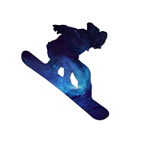 Decal Serpent Snowboarder Blau Galaxy Silhouette Color Vinyl Sport Auto Laptop Aufkleber-15,2cm (Galaxy Vinyl-aufkleber)